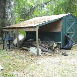 Farm Storage Shed – Before Repair and Restoration